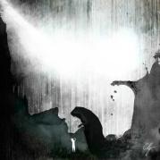 Illustrazione Ponte del Diavolo di Cividale con cane
