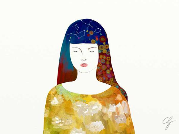 Illustrazione ragazza autistica