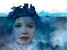 Illustrazione bambina autistica-isola