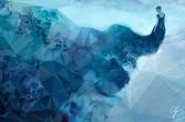 Illustrazione sogno blu