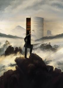 """Rivisitazione de """" Il Viandante"""" di C. Friedrich"""