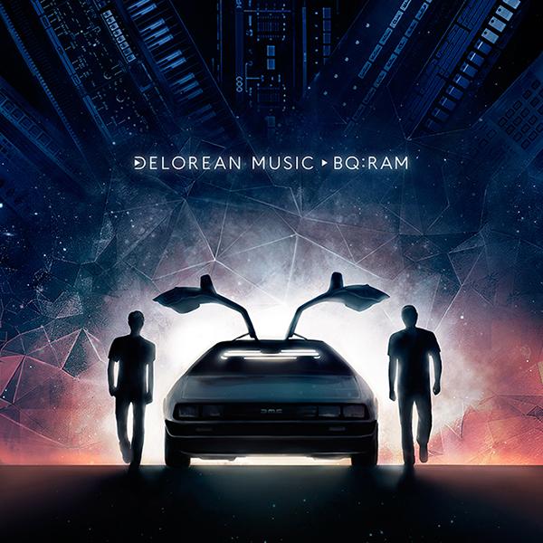 Illustrazione copertina DeLorean Music