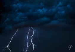 Fotografia fulmini blu