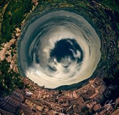 Panoramica circolare di Perugia