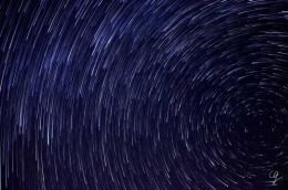 Fotografia della scia delle stelle o startrail