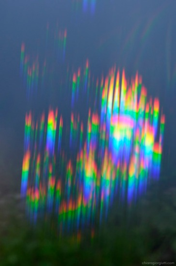 aberrazione cromatica arcobaleno da prisma