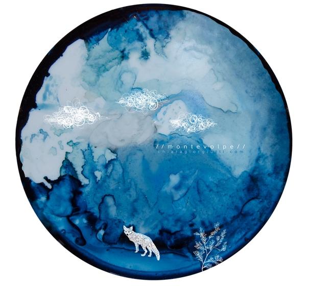 Acquerello blu Montevolpe