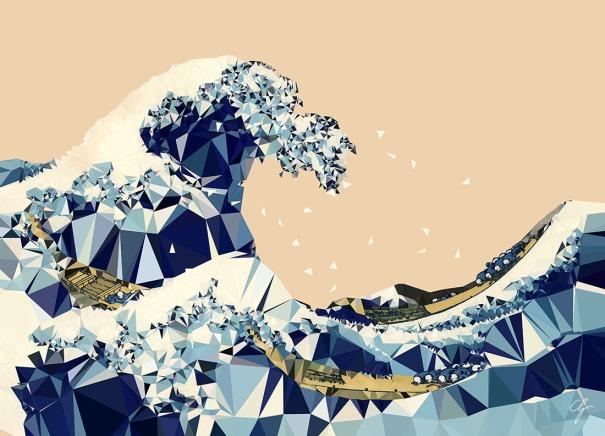 triangolazione onda di Hokusai