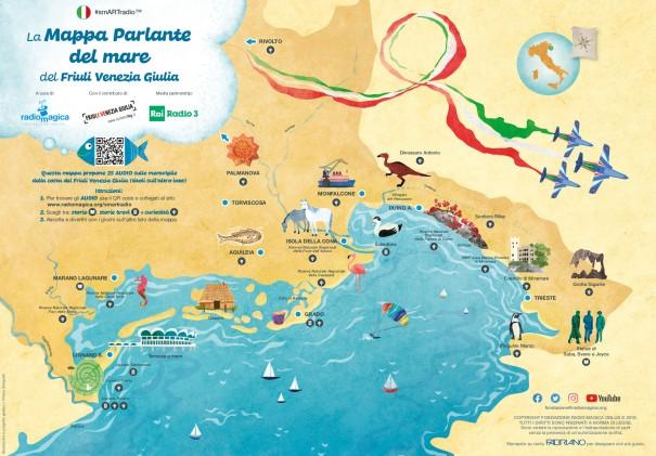 mappa illustrata del mare Friuli Venezia Giulia